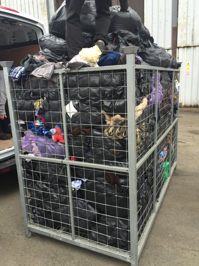 Items brought back to Scotland for Cash4Clothes (1.6t!)